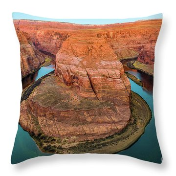 Throw Pillow featuring the photograph Horseshoe Bend by Dheeraj Mutha