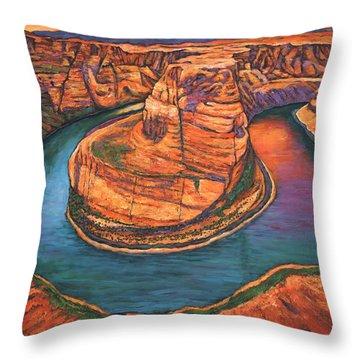 Horseshoe Bend Sunset Throw Pillow