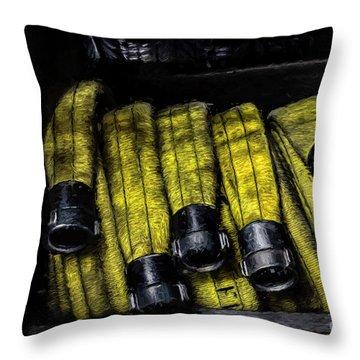 Hose Rack Throw Pillow