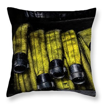 Hose Rack Throw Pillow