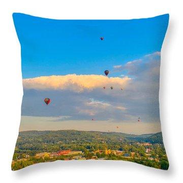 Hot Air Ballon Cluster Throw Pillow