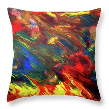 Hot Colors Coolling Throw Pillow