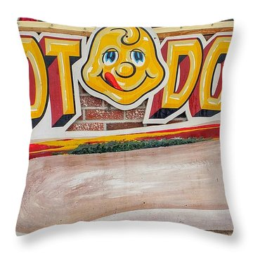 Hot Dogs Throw Pillow