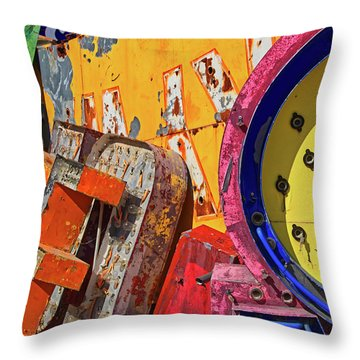 Throw Pillow featuring the photograph Hot Mess by Skip Hunt