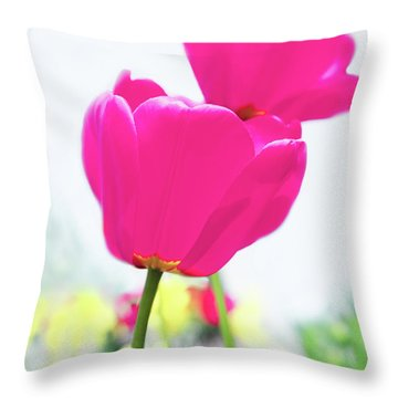 Hot Pink Prelude Throw Pillow