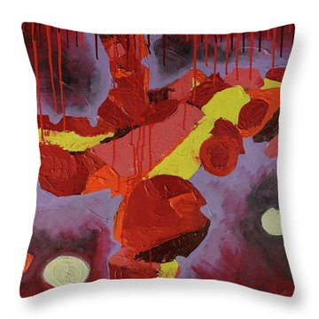 Hot Red Throw Pillow