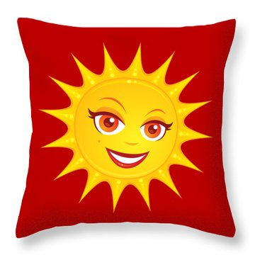 Hot Summer Sun Throw Pillow