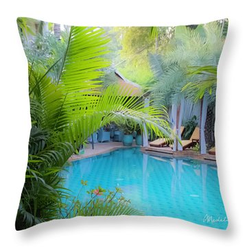 Hotel In Cambodia Throw Pillow