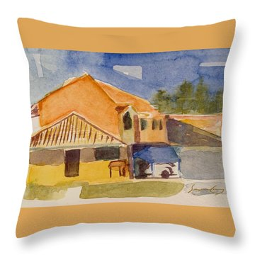House Across The Way Throw Pillow