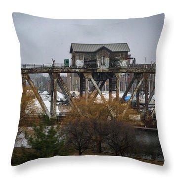 House Bridge Throw Pillow