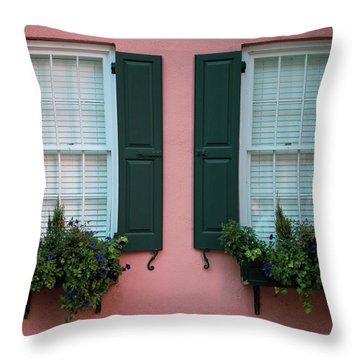 House Eyes Throw Pillow