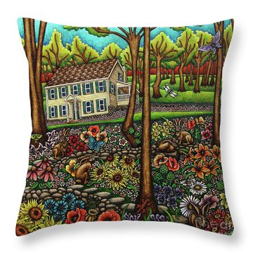 House In The Meadow  Throw Pillow