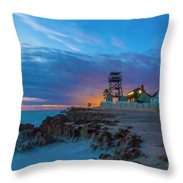 House Of Refuge Morning Throw Pillow
