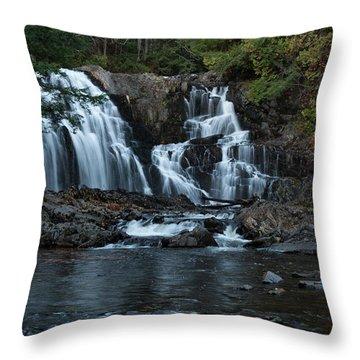 Houston Brook Falls Throw Pillow