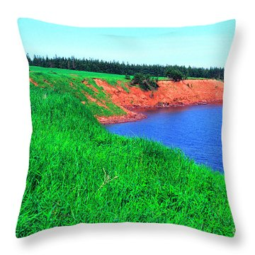 Howe Point Prince Edward Island Throw Pillow