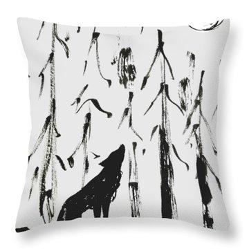 Howl #2 Throw Pillow