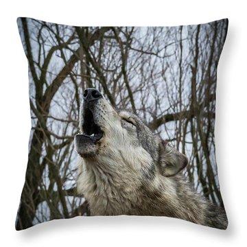 Howlin Throw Pillow