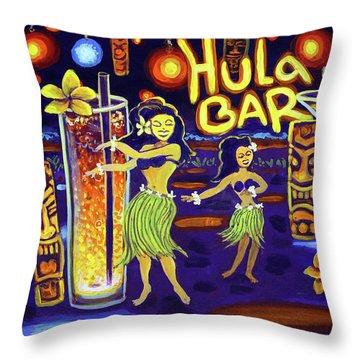 Hula Bar Throw Pillow