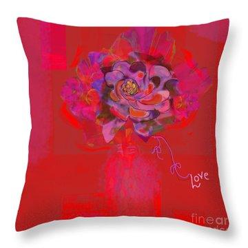 Hummingbirds Red Fantasy Throw Pillow