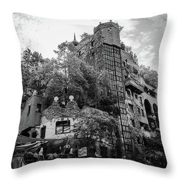 Hundertwasserhaus Throw Pillow
