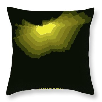 Hungary Radiant Map II Throw Pillow