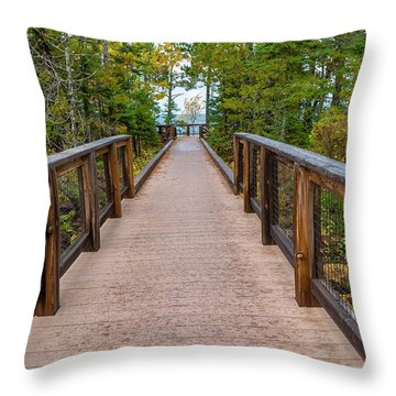 Hunter's Point At Copper Harbor Throw Pillow