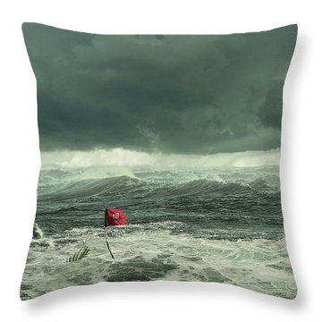 Hurricane Florence 2018 Throw Pillow