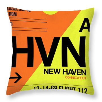 Hvn New Haven Luggage Tag I Throw Pillow