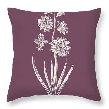 Hyacinth Purple Flower Throw Pillow