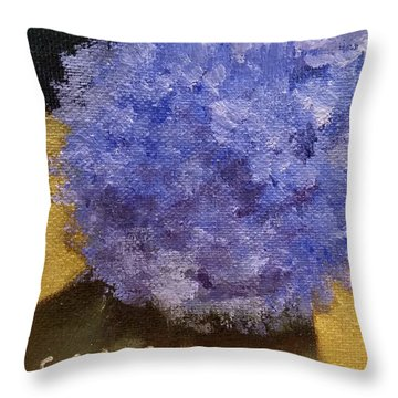 Hydrangea II Throw Pillow