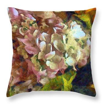 Hydrangea Love Throw Pillow
