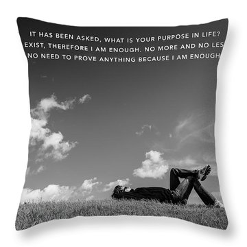 Throw Pillow featuring the digital art I Am Enough - Part 4 by ISAW Company