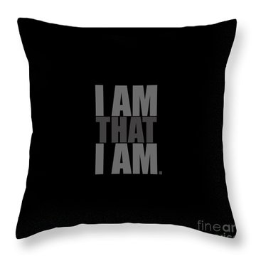 Throw Pillow featuring the digital art I Am That I Am by Tim Gainey