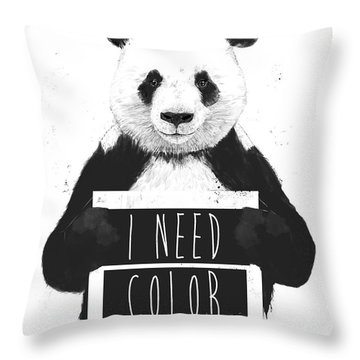 I Need Color Throw Pillow