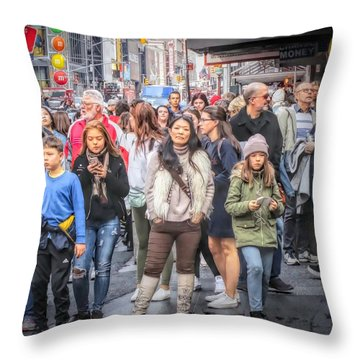 I See You, Mr. Photographer Throw Pillow