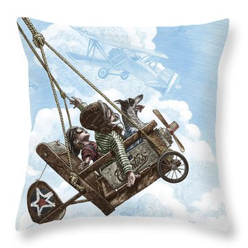 I Want To Fly Throw Pillow