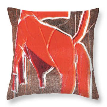 I Was Born In A Mine Dog 29 Throw Pillow