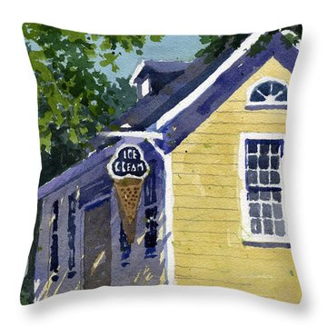 Ice Parlor At Paoli Throw Pillow