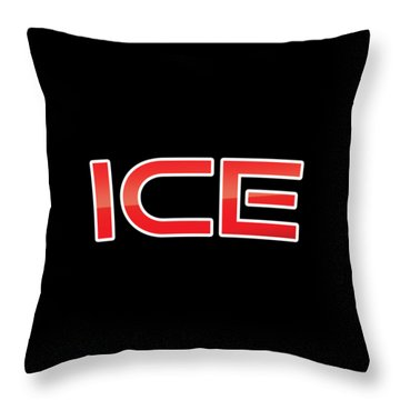 Throw Pillow featuring the digital art Ice by TintoDesigns