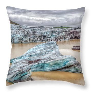 Iceberg Of Iceland Throw Pillow