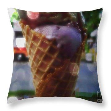 Icecream Dreams Throw Pillow