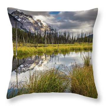 Icefields Parkway Tarn Throw Pillow