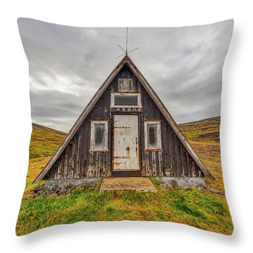 Iceland Chalet Throw Pillow