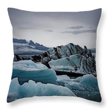 Icy Stegosaurus Throw Pillow