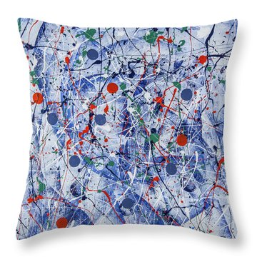 Icy Universe Throw Pillow