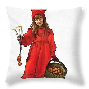Iduna And Her Magic Apples Throw Pillow