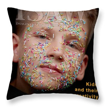 Throw Pillow featuring the digital art If You Were A Cake by ISAW Company
