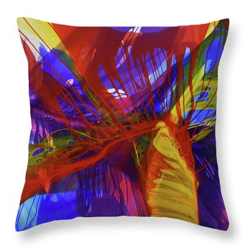 Throw Pillow featuring the painting Ignite by Kate Word