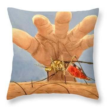 Throw Pillow featuring the painting Ignorance Is Bliss by Kevin Daly