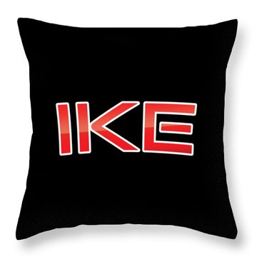 Throw Pillow featuring the digital art Ike by TintoDesigns